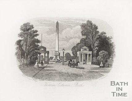 Victoria Column, Bath, 1861.