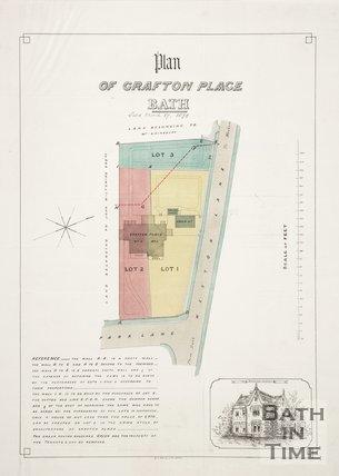 Plan of Grafton Place, Bath, 1879