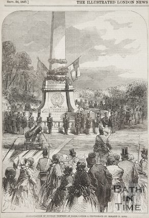 Inauguration of Russian trophies at Bath, 1857.