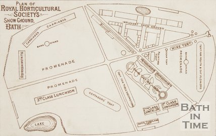 Plan of Royal Horticultural Society Show Ground, Bath, c.1873