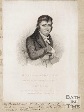 Portrait of W. Baxter. A. L. S. F. H. S. C