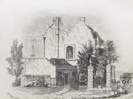 Engraving of an unknown house in Weston by the Royal Victoria Park