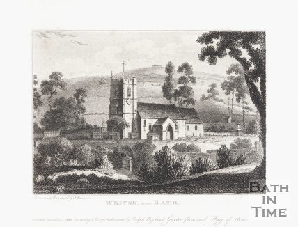 Weston Church, near Bath. September 1st 1782.