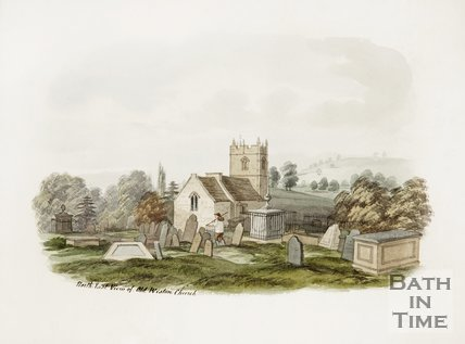 North East view of Old Weston Church.