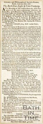 Bath gas, light and coke company, c.1815