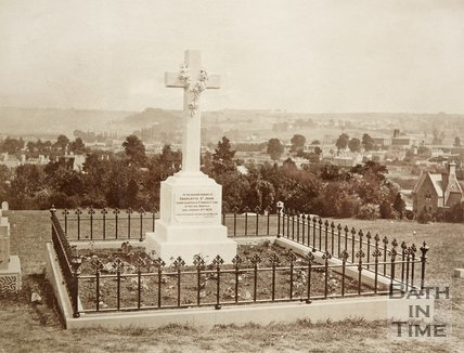 A memorial of Charlotte St John at Weston, 1870.