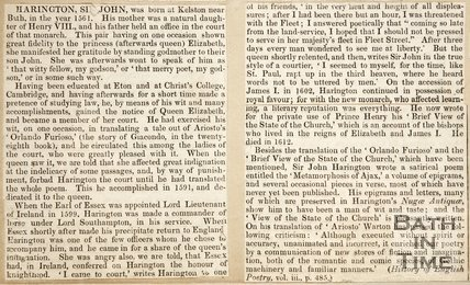 A biography of Sir John Harington.