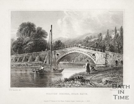 Weston Bridge, Near Bath 1830