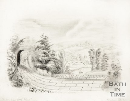 View capturing New Bridge c.1850