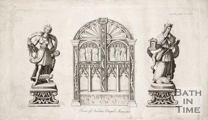 Door of Newton Chapel Somerset. 1832.