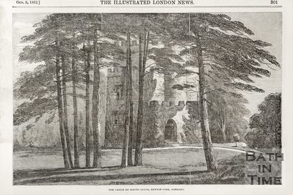 The Castle at St Loe, Newton Park, Somerset. 1852.