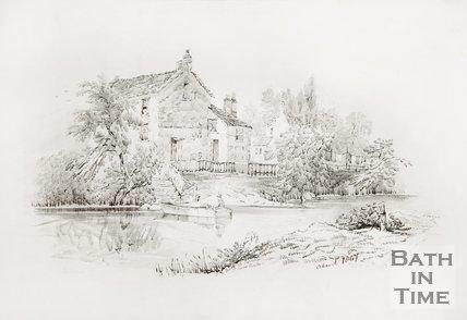 Ferry at Weston, near Bath. 1847.