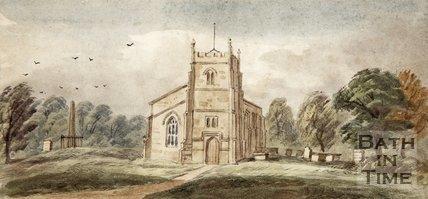 Watercolour of Twerton Church.
