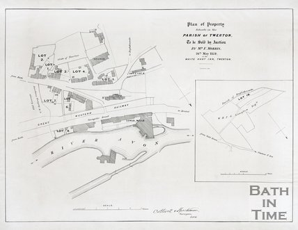 Plan of property situate in the parish of Twerton. 1854.