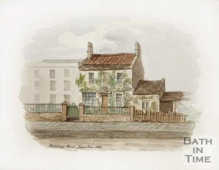 Henry Fielding's House Twerton. 1850.