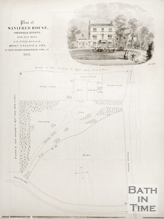 Plan of Winifred House, Sion Hill, Bath 1851.