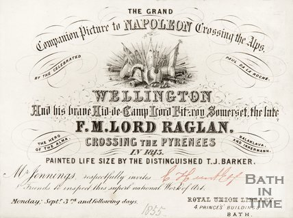 A ticket to the Grand Companion Picture to Napoleon crossing the Alps. 1855.