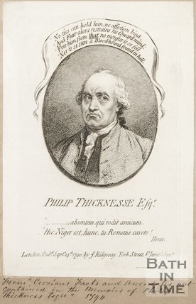 A portrait of Philip Thicknesse. 1790.