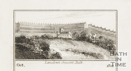 Lansdown Crescent, Bath 1812.