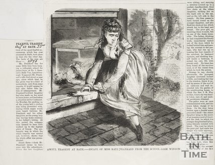 Newspaper article concerned with a description of the murder of Miss Prankard. 1870.