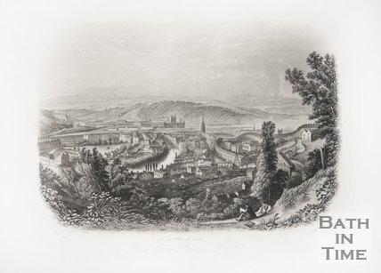 Bath from Beacon Hill 1850