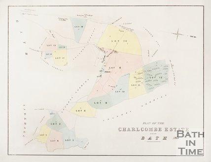 Plan of Charlcombe Estate near Bath. 1860