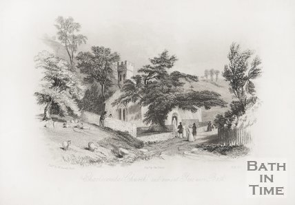 Charlcombe Church and ancient Yew near Bath