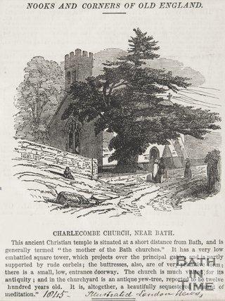 Newspaper article. Charlcombe Church near Bath 1845