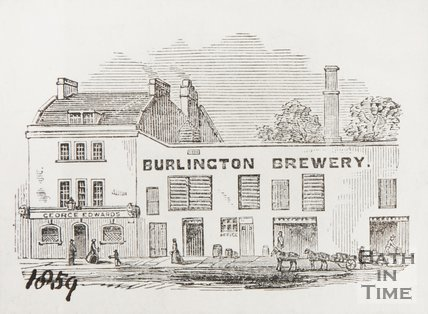 The Burlington Brewery, Julian Road, Bath 1859