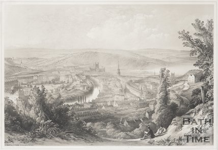 Bath from the Beacon Hill 1850
