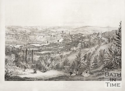 Bath from the Beacon Hill 1849