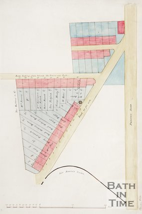 Plan of proposed roads by Beacon Hill including landowners.