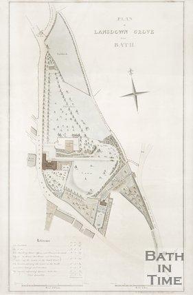Plan of Lansdown Grove, near Bath. July 1816.