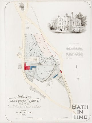 Plan of Lansdown Grove, the property of Sir Edward Cockburn Bart. 1860