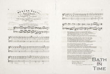 Sheet Music entitled 'Modern Music by Rev. J. Bowen.'