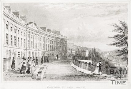 Camden Crescent, Bath 1829