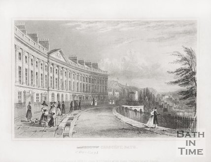 Camden Crescent, Bath (Incorrectly labelled Lansdown Crescent) 1830