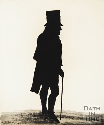 Silhouette of Rev. John Bowen.