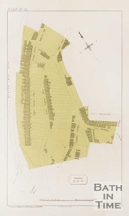 Plan of the roads of Camden Place.