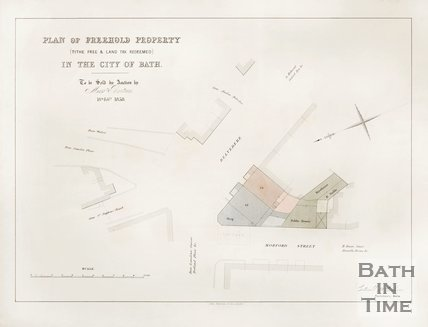 Plan of Freehold Property (Tithe Free and Land Text Redeemed) in the City of Bath. 1858.