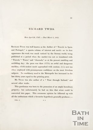 A biography of Richard Twiss.