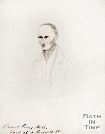 A pencil sketch of Daniel Pring M.D.
