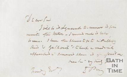 Handwritten letter from Daniel Pring to E. Hunt in illegible handwriting.