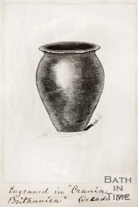 Sketch of urn found in Bath. 1852