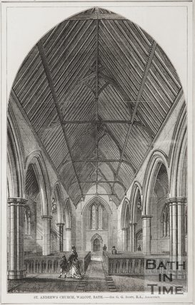 St Andrews Church, Walcot. Sir G. Gilbert Scott, architect c.1874