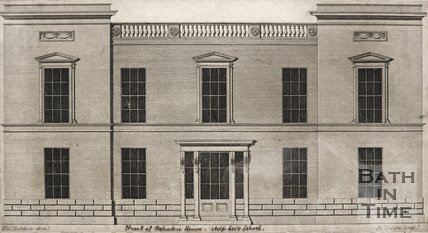 Front elevation of Belvedere House, Miss Lee's School c.1795