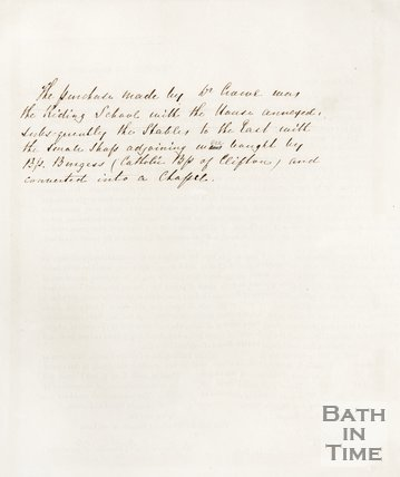 A letter concerning the proposed catholic church, Clifton. 1849. verso
