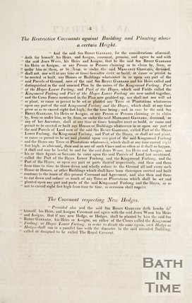An Abstract of the Conveyance to John Wood of the Ground for the Royal Crescent. Verso