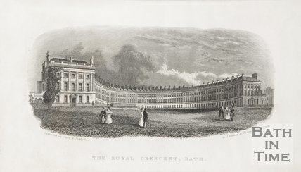 The Royal Crescent, Bath c.1837