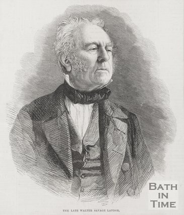 Portrait of the late Walter Savage Landor.